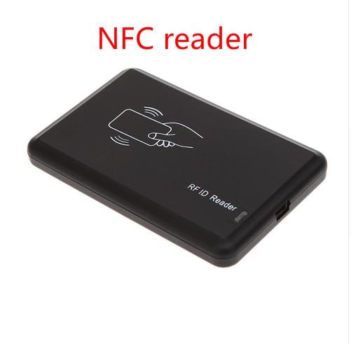 Envío gratis de Control de acceso sin contacto 14443A 13,56 KHZ inteligente Tarjeta de Identificación lector de tarjetas para Mifare NFC203/213/216 con USB lector NFC