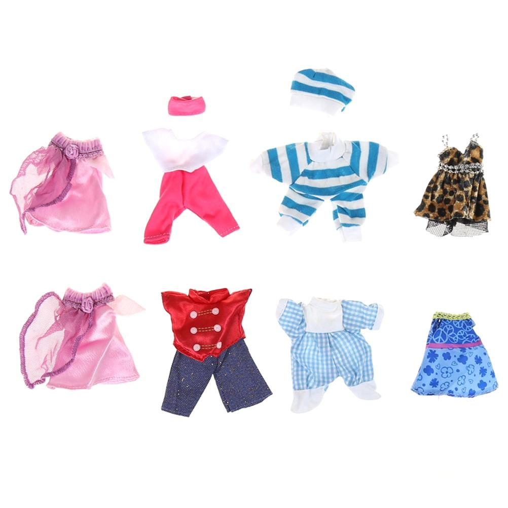 Precioso conjunto de 5 prendas de vestir hechas a mano, minivestido para Kelly O para muñeca Chelsea, bonito regalo para niñas, juguete de amor para bebé