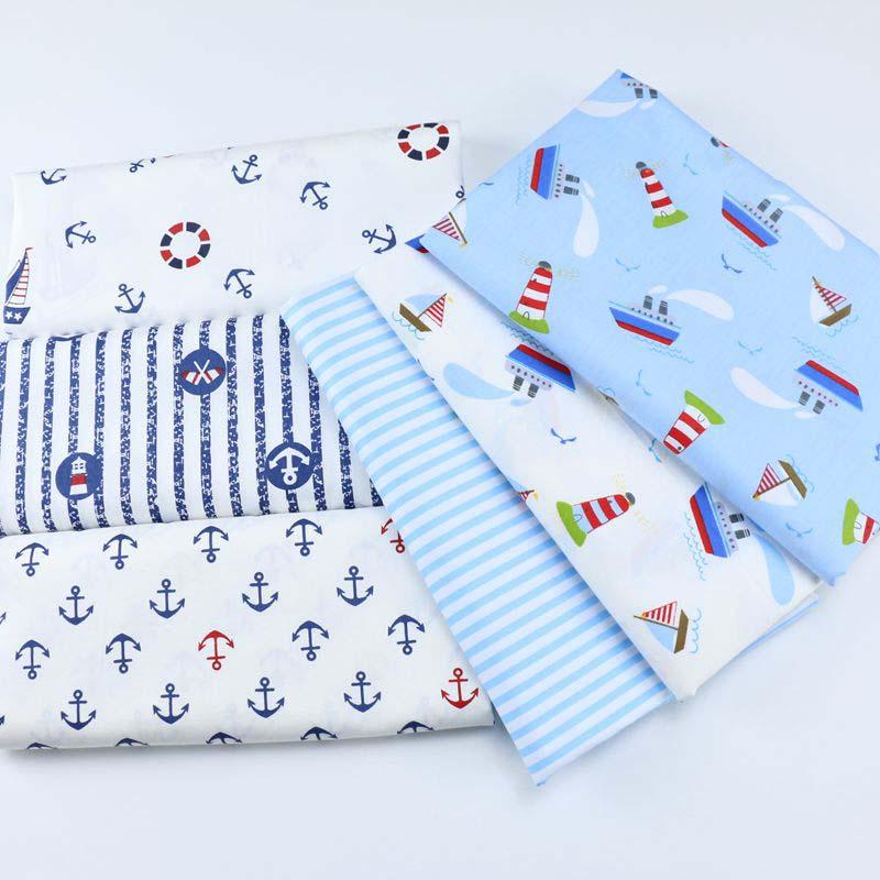 Tela de algodón SMTA, telas de retales de tela por el metro para costura para velero de costura 50*160cm D20