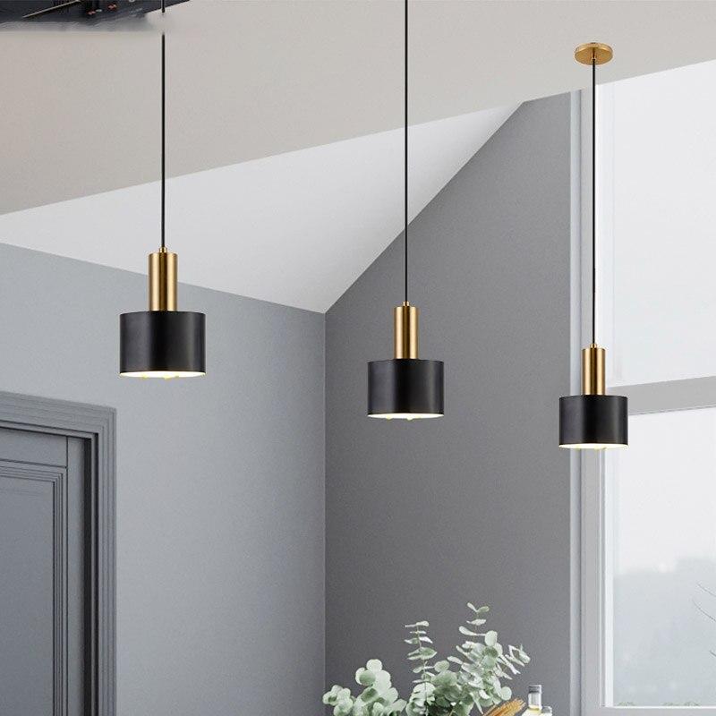 7W 3 أضواء عكس الضوء قلادة ضوء لغرفة الطعام غرفة المعيشة بار تعليق قلادة مصباح خمر LED الأسود Haning أضواء