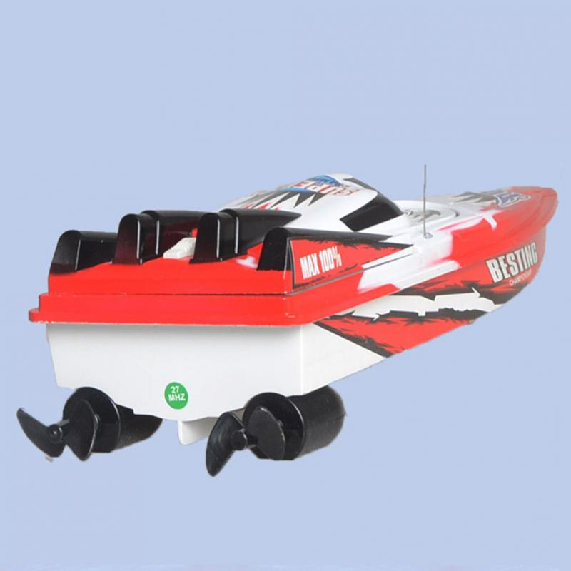 Controlled Boat Remote Control Toy RC Racing Fishing Ship Bait Radio Speed Boat Red Green Rc Boat Hull Toy Rc Speedboat enlarge