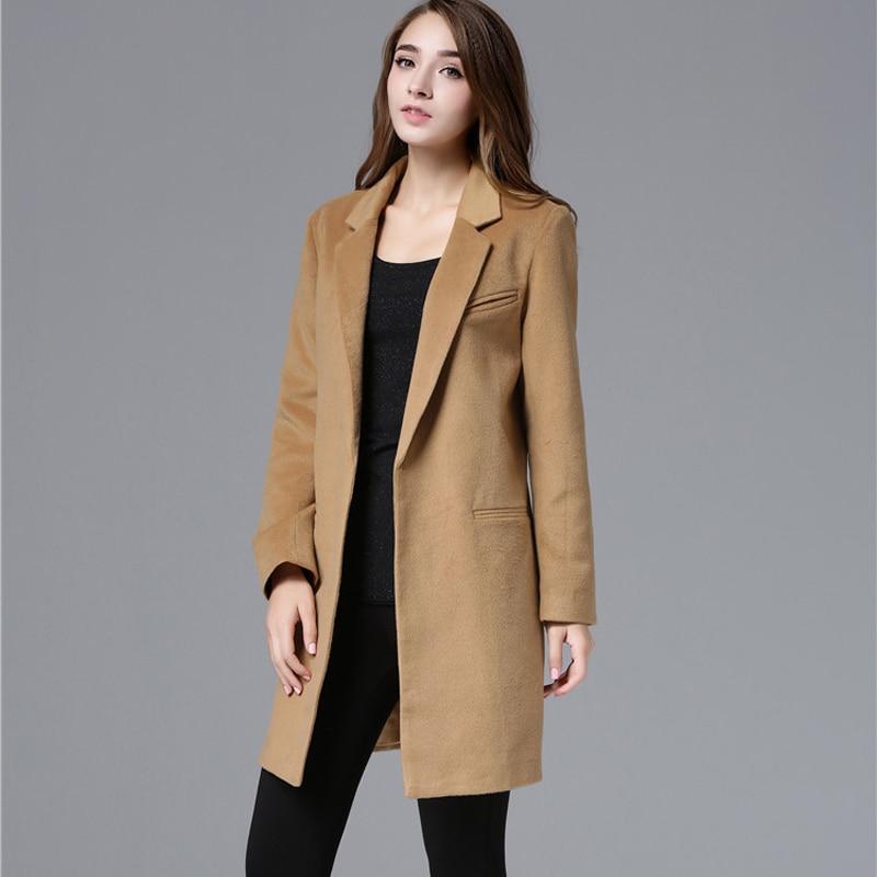 ZADORIN Women Coats And Jackets Winter Solid Long Sleeve Wool Coat Vintage Runway Black Camel Coat Blazer Mujer Streetwear