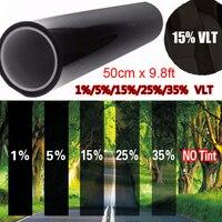Vehicles/Car Window Tint Film 15% Black For Car Windows Glass Sun-Shade Stickers