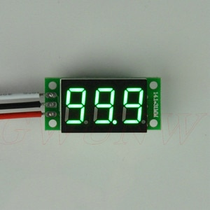 GWUNW BY336V DC 0-99.9V (100V) 3 bit 0.36inch digital voltmeter  Panel Meter Voltage Tester  red blue green yellow