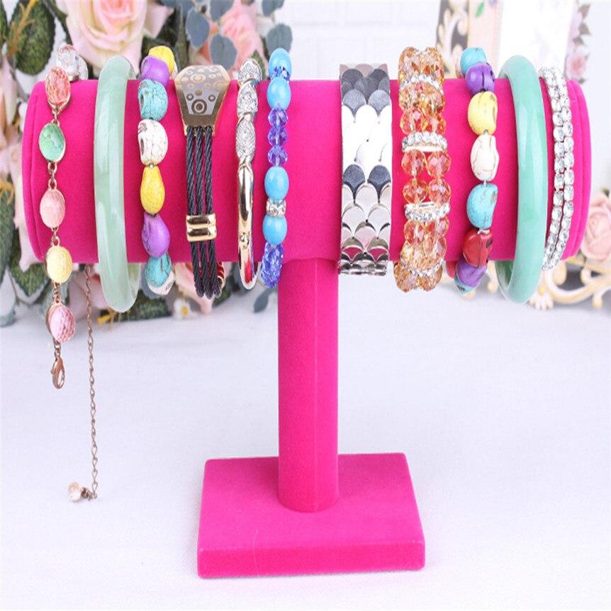 Feliz venda de veludo jóias rack pulseira colar suporte organizador titular exibição jan25
