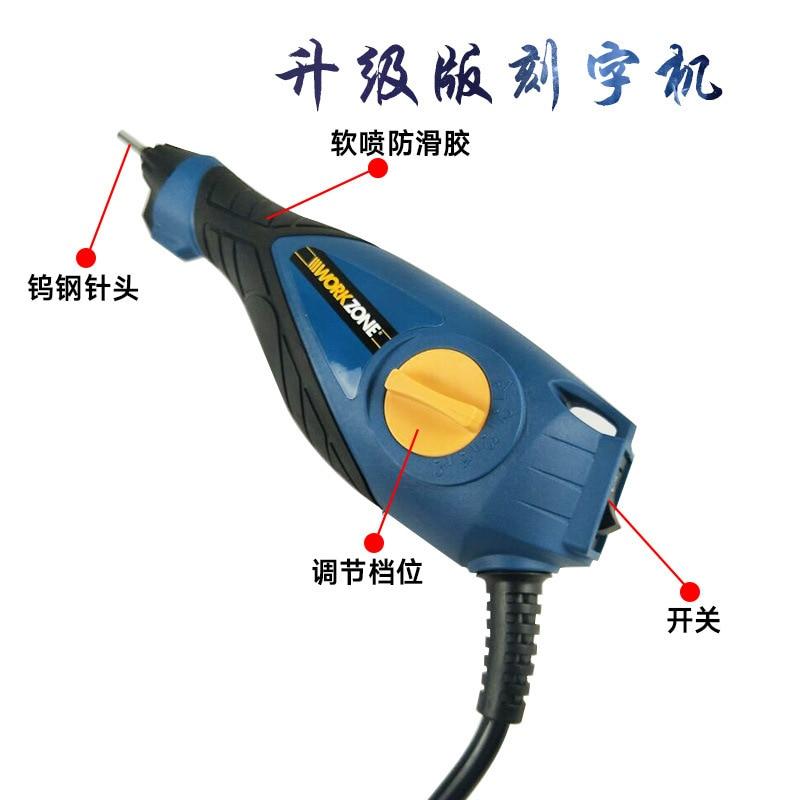 Máquina de alta calidad, mini pluma de grabado, cuchillo eléctrico con soporte de acero tungsteno, Delfín, herramienta rotativa de grabado de madera tallada
