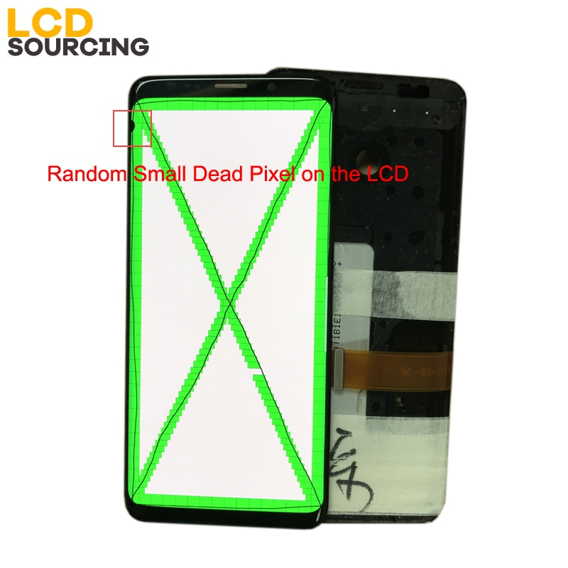 AMOLED Small Dead Piexl For SAMSUNG Galaxy S9 G960 LCD Display S9+ Plus G965 with Frame Touch Screen Digitizer Assembly Replace enlarge