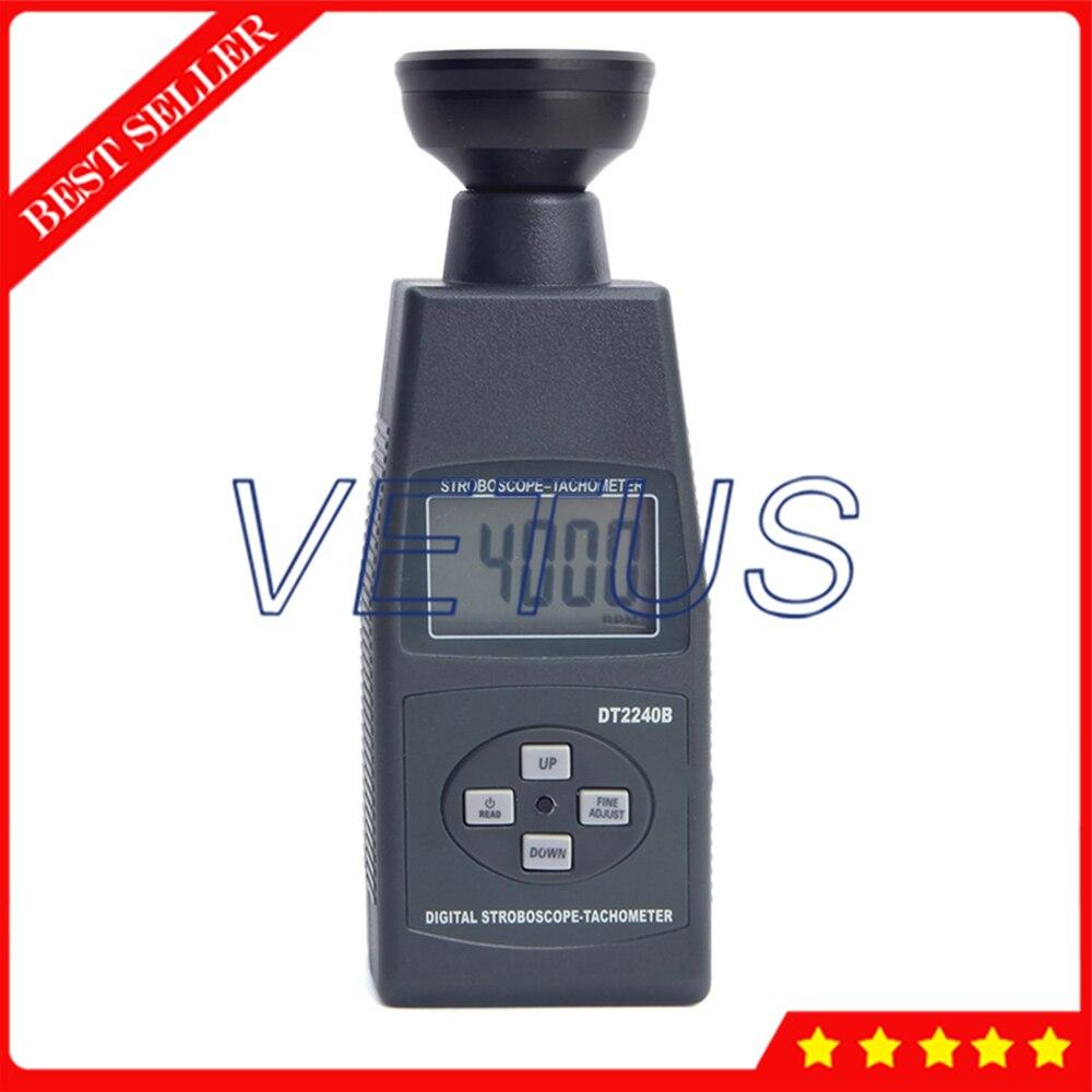Stroboscope DT2240B Non-contact Tachometer Rpm Tester With portable Stroboscope Tach Meter