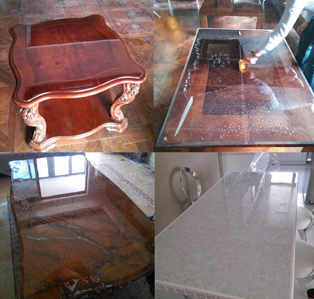 Прозрачная мебель, скатерть для домашних животных, защитная пленка, обеденный стол/офисный стол, защита краски 1,52 м x 5 м