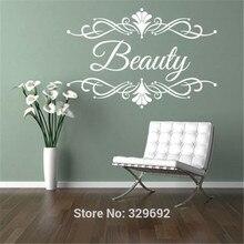Autocollants muraux personnalisés pour Salon de beauté Spa   Étiquette décorative amovible, nom de Business, décoration pour la maison bricolage
