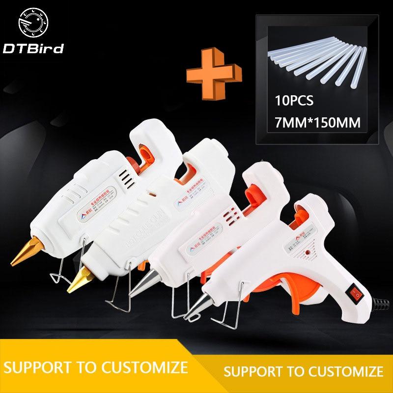 20W-105W DIY caliente ajustable templadas pegamento 7mm adhesivo Industrial Eléctrica de silicona armas Thermo reparación herramientas de calor