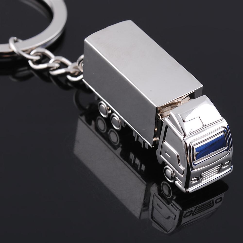 Car keychain truck keychain metal keychain personalized solid truck gx-034
