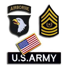 1 Set US 101st Airborne 3D 군사 군대 전술 자수 패치 의류 의류 엠블렘 Appliques 배지