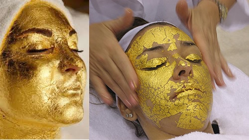 5PCS 4.33*4.33cm Gold Foil Mask Sheet Spa 24K Gold Face Mask Thailand Beauty Salon Equipment Anti-Wr