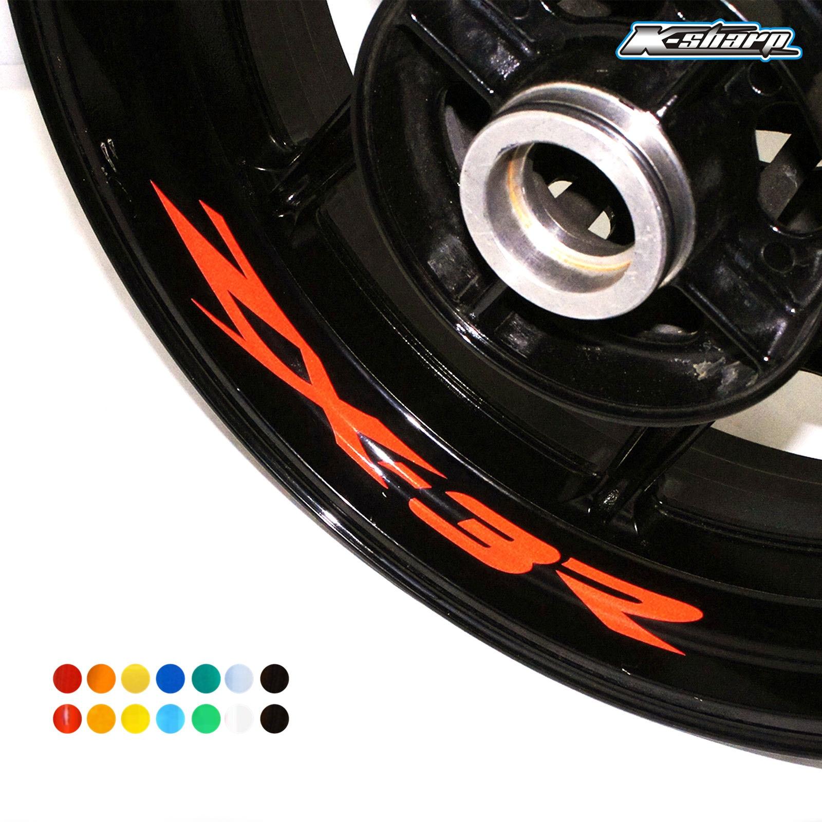 8 X custon inner rim decals wheel reflective sign Stickers stripes FIT KAWASAKI ZX-3R zx3r
