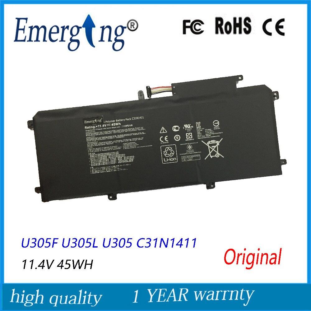 بطارية كمبيوتر محمول جديدة وأصلية 11.4 فولت 45 وات لأجهزة ASUS U305F U305L U305 C31N1411 Zenbook U305CA