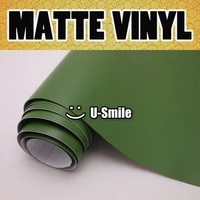 military green matte vinyl military green matte wrap air bubble free for car wrapping size1 52x30mroll