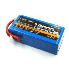 RC LiPo batterie 6S 22.2V 12000mAh 25C pour RC hélicoptère Quadrotor voiture avion réservoir jouet modèles 6S RC Batteries LiPo TCBWORTH