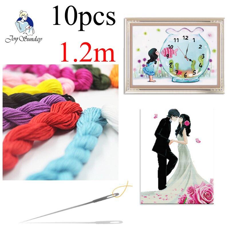 ALEGRIA de DOMINGO, DMC3740-3787 Bordar Ponto Cruz Tópico 10 pçs/lote Meadas de 1.2M Cross-stitch kit Crossstitch DIY Costura Craft