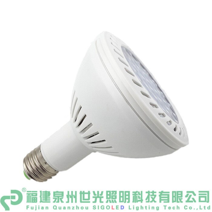 Shipping-2pcs gratuito/lote LED Par30 36W E27 Base SMD blanco cálido, súper brillante, bombilla LED Par luz led