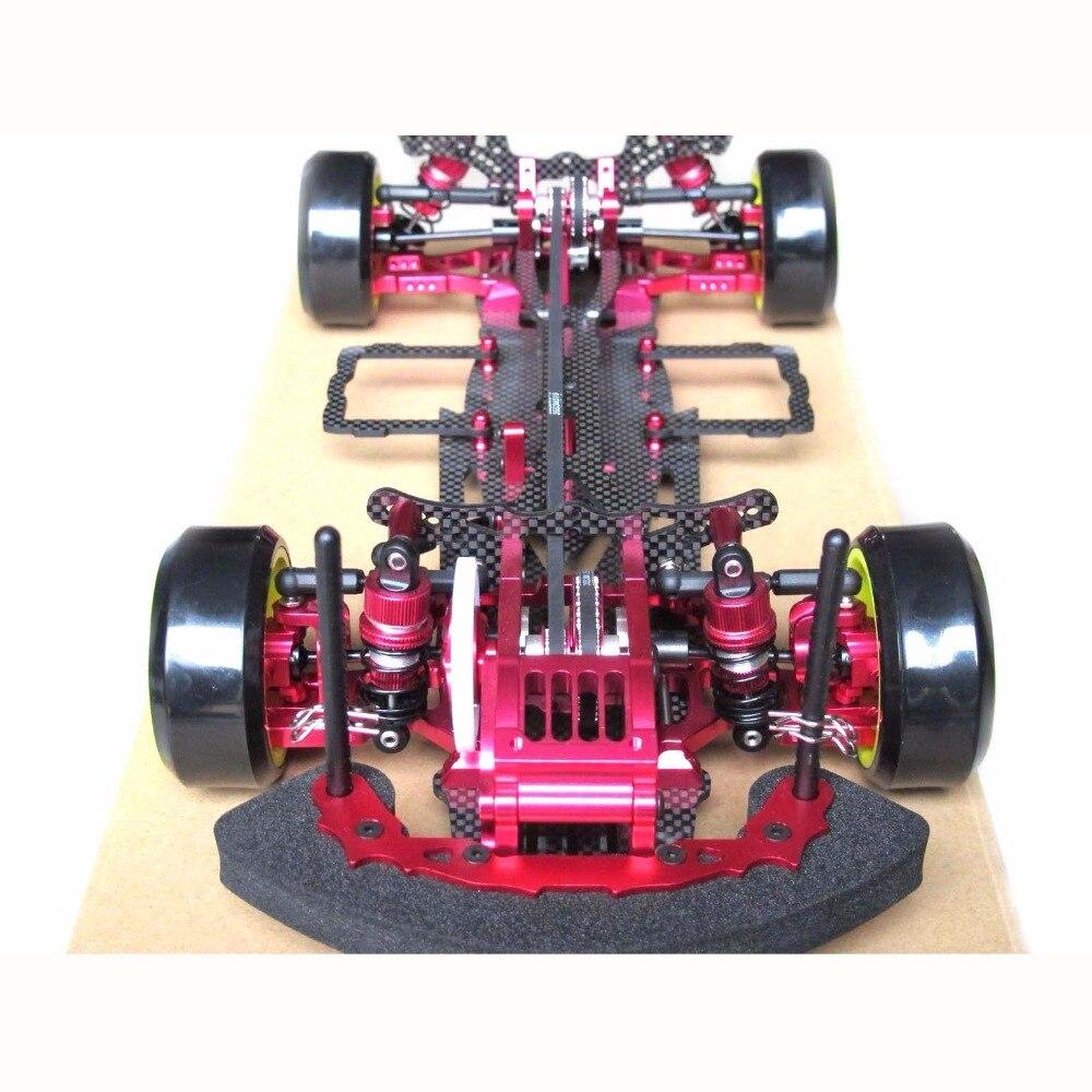 OEM سبيكة والكربون ساكورا D3 CS 3R OP RC 1/10 4WD الانجراف سباق السيارات طقم إطارات الشاسيه