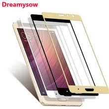 Dreamysow полное покрытие закаленное стекло для Xiaomi Redmi 4 Pro 4A Note4 глобальная версия Note 4X 5 Plus Mi5X MiA1 Mi6 защита экрана