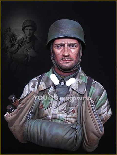 1/10 Fallschirmjager batallón 500 Drvar 1944, busto de figura de resina GK, temática militar de la Segunda Guerra Mundial, sin recubrimiento de la segunda guerra mundial sin color