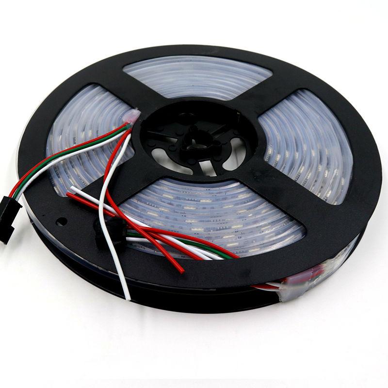 60leds/m 5050 smd led ws2811 digital strip addressable rgb led flexible led tube pixel light tv 12v dc garden tape rgb tape