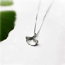 New Simple Beautiful Ginkgo Plant 925 Sterling Silver Fashion Jewelry Temperament Leaf Sweet Persona