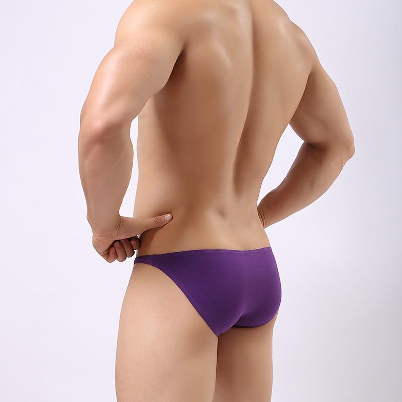 Men's underwear cotton sexy front convex men's briefs comfortable breathable elastic bag hip quality cotton underwear men