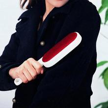 Brosse rouleau à poils réutilisables Double face   Brosse à cheveux en tissu, brosse adhésive pour vêtements, nettoyeur de poils en peluche, brosse pour vêtements de maison