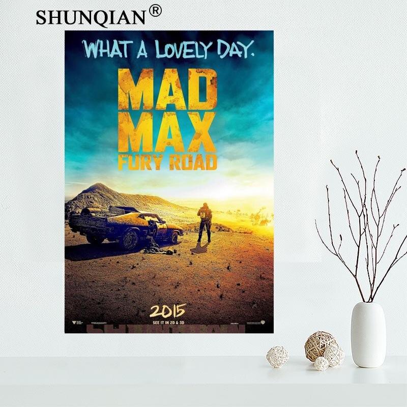 Bonito póster de lienzo personalizado Mad Max, pintura impresa, pared artística, póster de seda, impresión de tela, póster de tela 27X40cm30X45cm