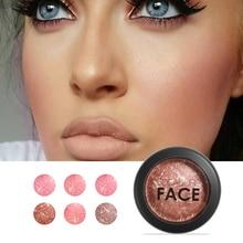 Focallure 6 Colors  Blush Palette face makeup Cheek Baked Blusher colorete Professional paleta blush powder