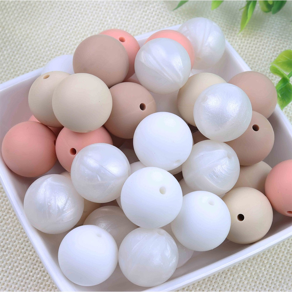 TYRY.HU Silicone Beads 10Pc Food Grade Silicone 12/15MM Nursing Silicone Teething Bead In Baby Teethers Necklace DIY