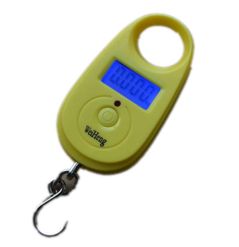 Báscula colgante electrónica Digital 25kg10g, Mini gancho de bolsillo para equipaje, báscula de peso para equilibrio de pesca, 4 tipos de alta precisión