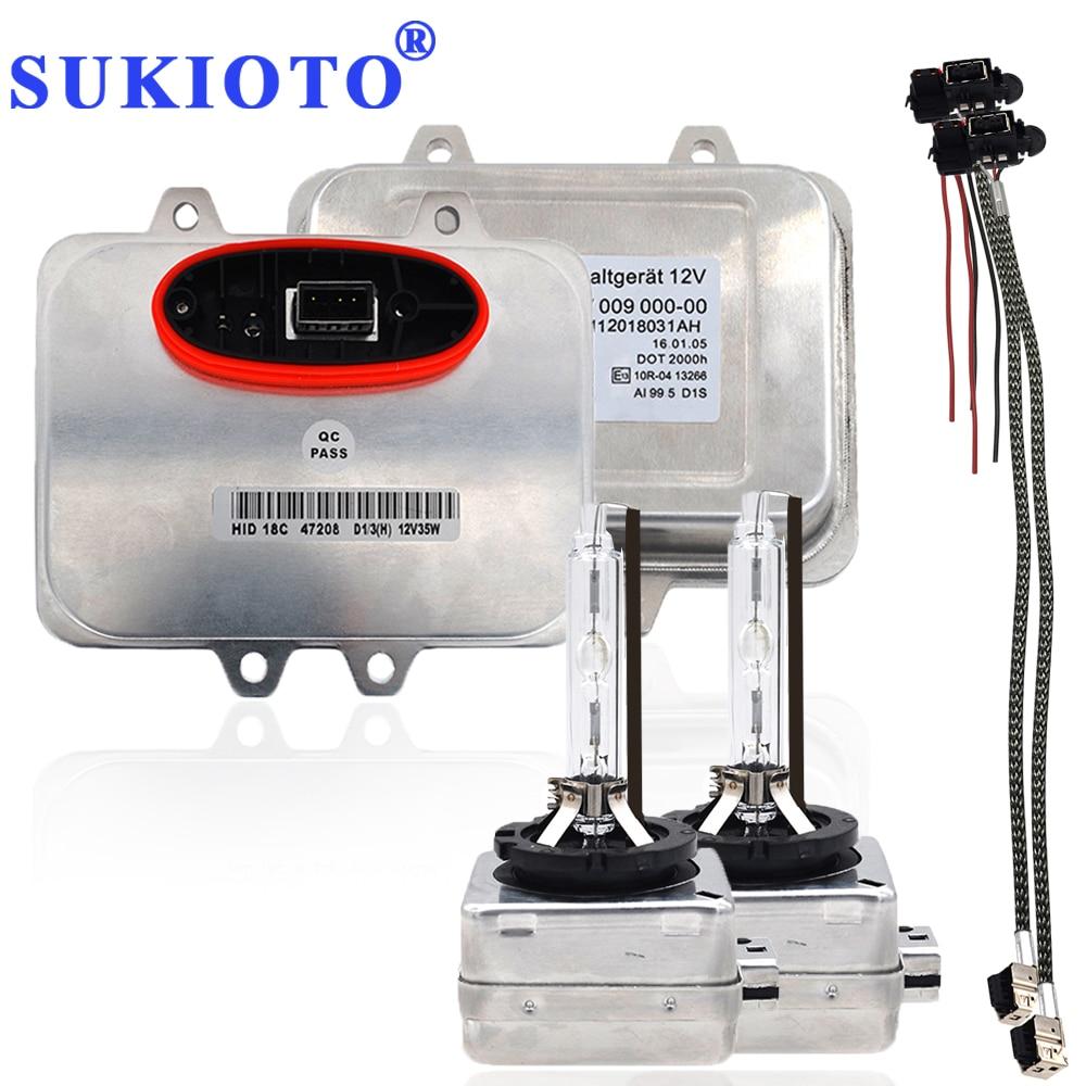SUKIOTO OEM Original D1S D1R lastre 5DV 009 610-00 5DV009610-00 5DV00961000 Xenon lastre Kits de D1S ecus 12V para X5 X6 faros