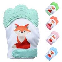Food Grade Silicone Baby Bijtring Handschoenen Silicone Bijtring Handschoenen Voor 6 Maanden Baby Dental Care Tandenborstel Duurzaam BPA Gratis