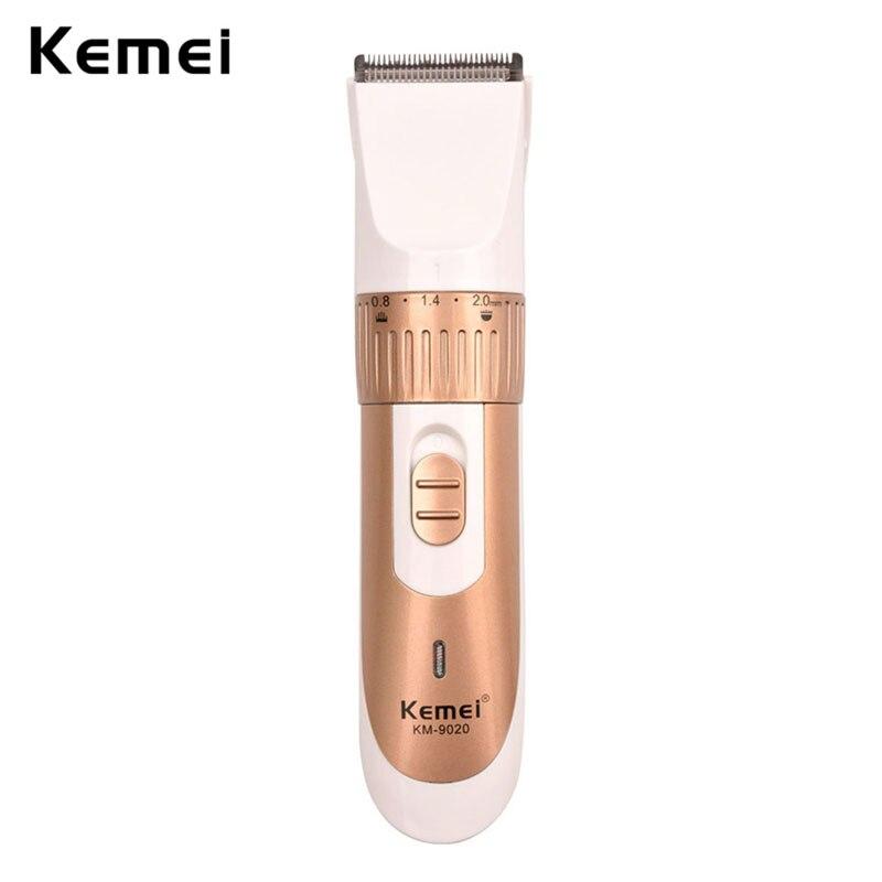 Cortadora eléctrica Kemei ajustable de 0,8 a 2,0mm, cortadora de barba recargable con peine para corte de pelo, máquina para corte de pelo para hombres S42