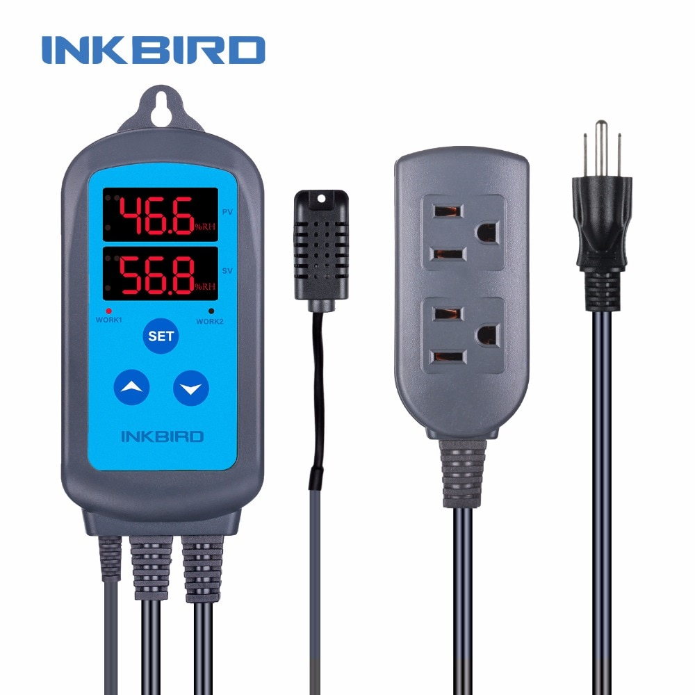 Inkbird IHC-200 США вилка гигрометр гумидистат цифровой контроллер влажности для инкубатора, автоматический инкубатор, инкубатор контроллер