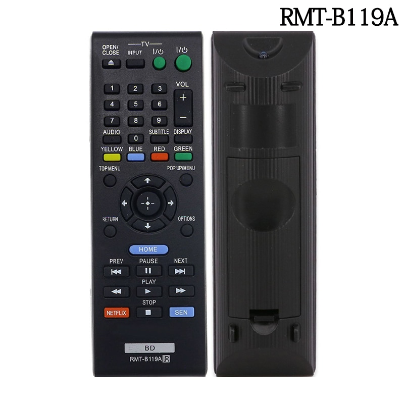 Compatible con Sony RMT-B115A RMT-B119A RMT-B116A reproductor de Blu-ray DVD remoto para...