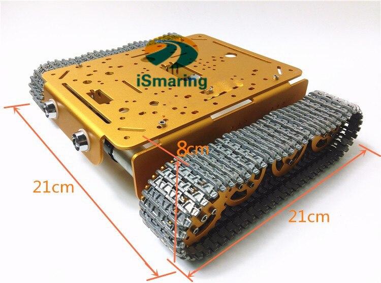 T200-MT цельнометаллический бак, Золотая версия Шасси из алюминиевого сплава с интерфейсом установки робота, для DIY робота, модель танка автомо...