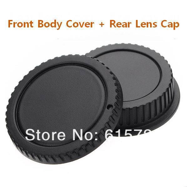 50 pares de tapa del cuerpo de la Cámara + tapa trasera de la lente para canon 1000D 500D 550D 600D EF EF-S Rebel T1i eos cámara