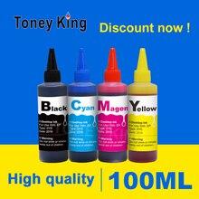Toney King 100 ml imprimante colorant recharge Kit dencre pour Canon Pixma MG2440 MX494 MG2940 MG2540 IP445 MG 2440 2540 2940 TS3140 MG3040