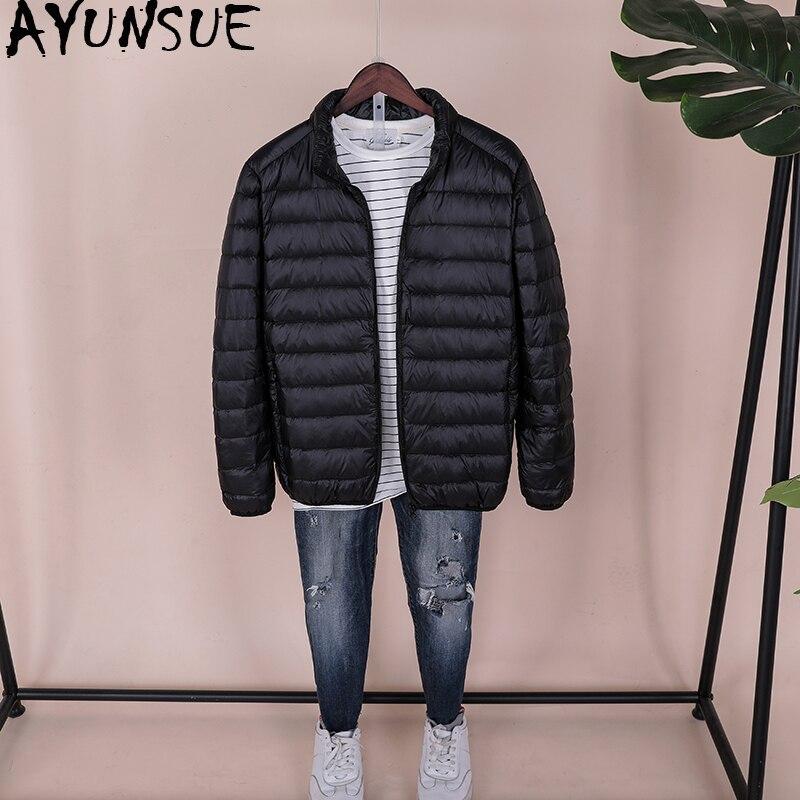 AYUNSUE, 2020, chaqueta ultraligera para hombre, Otoño Invierno, plumón de pato para hombres, chaqueta acolchada para hombres, tamaño grande, doudoune homme KJ2492
