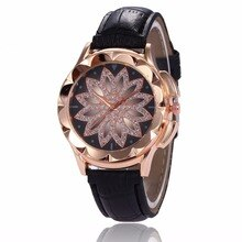 Top Marke Floral Muster Luxus Quarzuhr Frauen Luxus Leder Frauen Uhren Mode Damen Uhr Relogio Feminino Dropship
