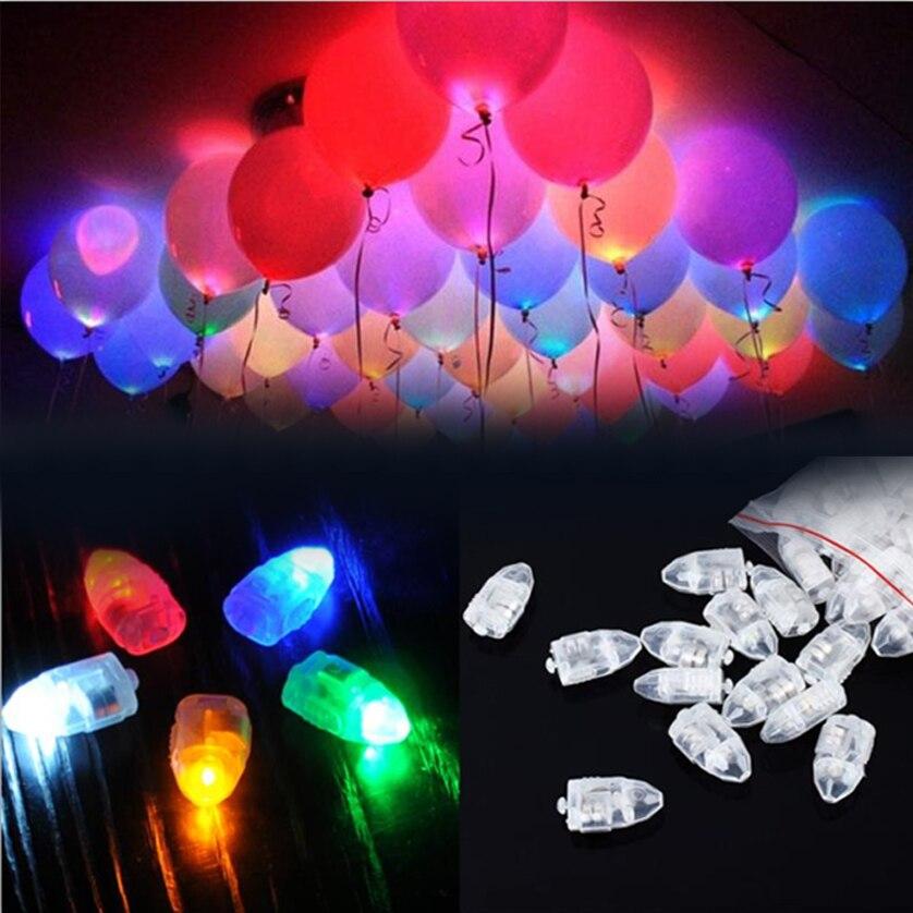 20 teile/los Bunte LED Ballon Licht Glow Flash Ball Lampen Papier Mini Laterne Ballon Lampe Weihnachten Halloween Party Dekoration