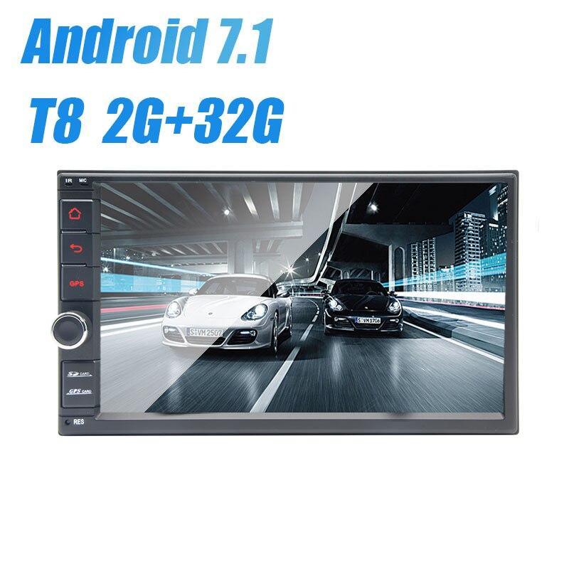 "7 ""Universal 2 din android 7,1 reproductor de dvd del coche gps radio para NISSAN TIIDA X-TRAIL QASHQAI NV200 LIVINA hyundai"