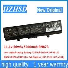 11.1v 56wh/5200mah RN873 new original Laptop Battery FOR Dell Inspiron GW240 297 M911G RN873 RU586 XR693 1525 1526 x284g