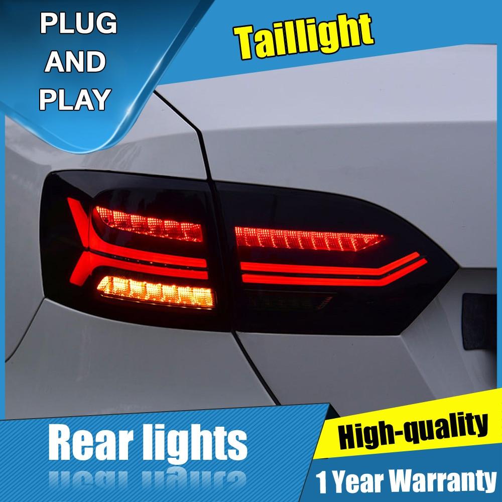 4 sztuk Car Styling dla VW Jetta Taillights 2012-2014 dla Jetta tylna lampa LED + Turn Signal + Brake + rewers LED light
