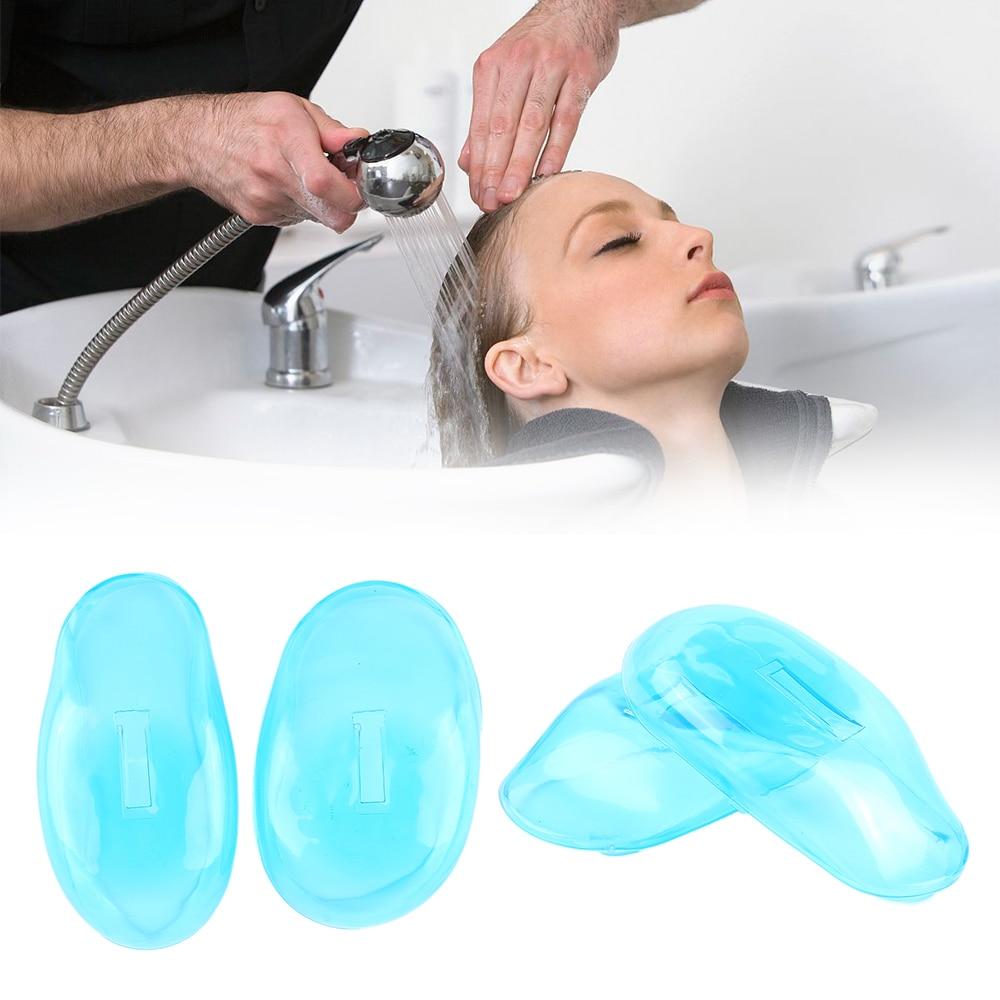 1 par de tinte de silicona reutilizable cubre orejas escudo barbería antimanchas orejeras proteger las orejas accesorios de estilo